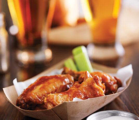 Buffalo Chicken Wings In Basket