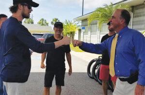 Sheriff Ford With Fla. Ga. Line Bike Donation