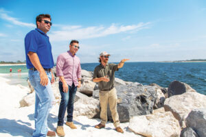 Wayne Register And Two Team Members At St. Andrews State Park