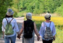 Women Girlfriends Nature Walk