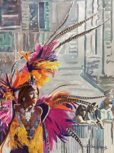 Art Michelle Kimbrough Jasmine Crucian Carnival Series Xviii